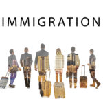 group of people and Immigration sign