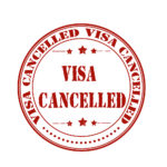 Visa cancelled badge