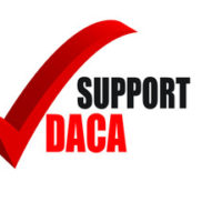Red check mark for DACA - To show support for the immigration program
